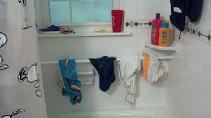 bathing suit rack